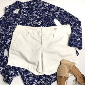 Lilly Pulitzer Callahan Shorts White Cotton Twill